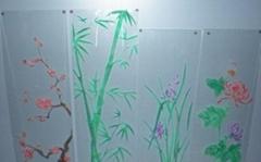 digital art glass background wall
