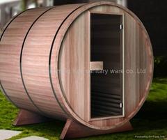 outdoor barrel Infrared sauna room model 02-S1