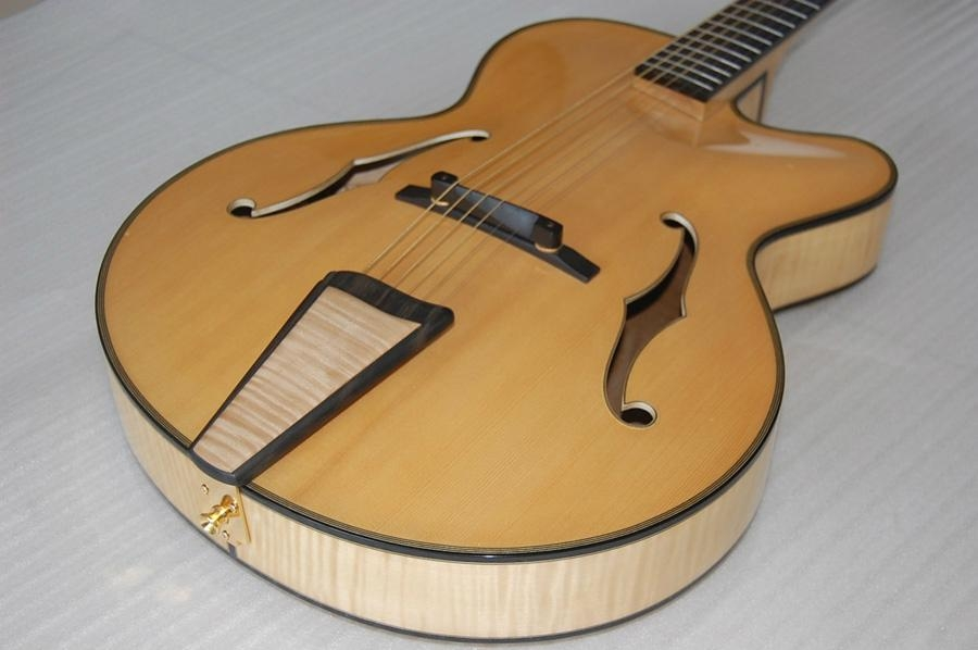 Wholesale fullyhandmade jazz guitar with solid wood. 3