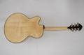 Wholesale fullyhandmade jazz guitar with solid wood. 4