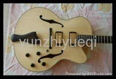 Wholesale fully handmade jazz electric guitar with solid wood.