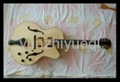 Wholesale fully handmade jazz electric guitar with solid wood. 4