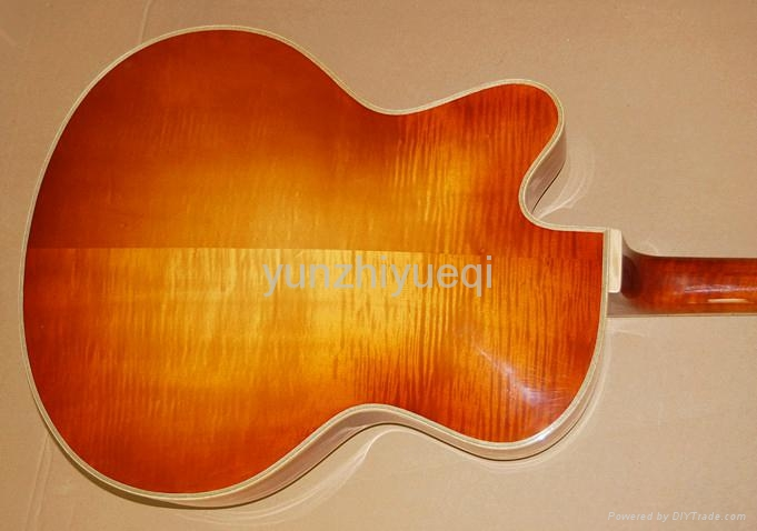 Fully handmade jazz guitar with solid wood 5