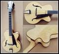 Fully handmade jazz guitar with solid