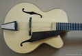 Fully handmade jazz guitar with solid wood 3