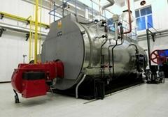 Oil-fired steam boiler