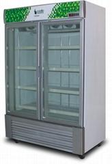 Upright Freezer Ultra Low Temperature Upright Display Showcase Freezer 2 Doors