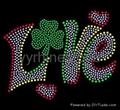 Love/ Heart rhinestone transfer
