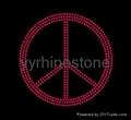 Peace rhinestone transfer