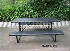 户外铁制套椅 庭院套椅 香港花园休闲桌椅