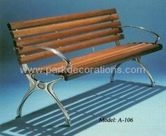 鑄鋁腳休閑椅 戶外鑄鋁公園椅 公園椅廣東廠家