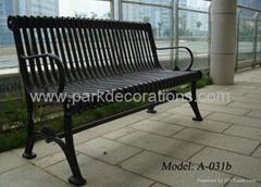 香港铸铁休闲椅 香港铸铁公园椅