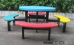 香港休閑庭院套椅 花園鐵制套椅 戶外鐵制圓形桌