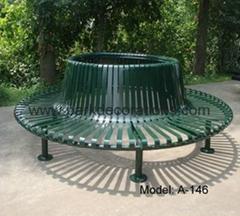 香港戶外鋼鐵公園椅