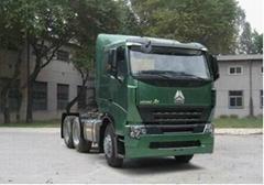 china heavy duty howo a7 6*4 tractor truck single horizontal