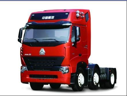 china heavy duty howo a7 6*4 tractor truck single horizontal 2