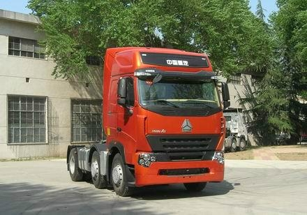 china heavy duty howo a7 6*4 tractor truck single horizontal 3