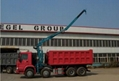 China heavy duty HOWO ZZ3317N3067C type 8*4 tipping crane QYS-120ZI  2