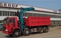 China heavy duty HOWO ZZ3317N3067C type 8*4 tipping crane QYS-120ZI  4