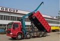China heavy duty HOWO ZZ3317N3067C type 8*4 tipping crane QYS-120ZI  5