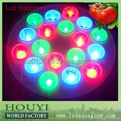 3W high bright 80lm/w led underwater light remote controlled with RGB shift