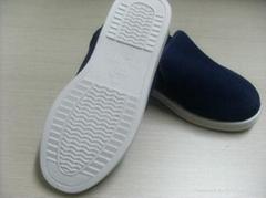 深蘭色中巾鞋