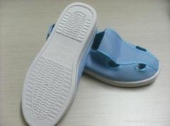 防靜電藍色帆布四眼鞋