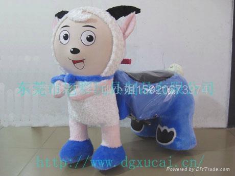 毛绒玩具电动车 2