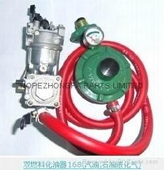 HONDA GX160 ENGINE Dual fuel carburetor with gasoline liquefied petroleum gas