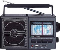 AM/FM/SW1-9 World receiver/mp3 speaker