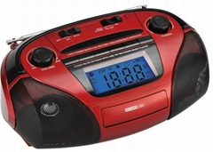 FP-833R digital clock fm am sw radio receiver with USB/SD recorder and  remote f