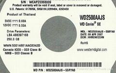 WD250GB hard disk