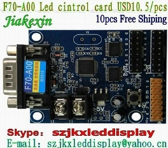 LED sign control card serial control card indoor full-color control card free sh