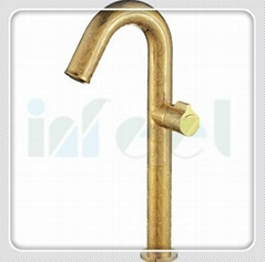 Gold luxury high wash basin faucet