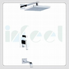 Concealed in-wall shower set faucet