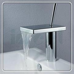brass waterfall basin faucet