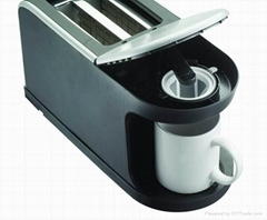 2 in 1 Patent electrical coffee maker and Toaster