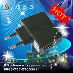 CE认证的USB充电器5V1A