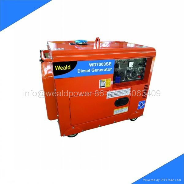 5kva silent diesel air-cooled tower light generator set 5