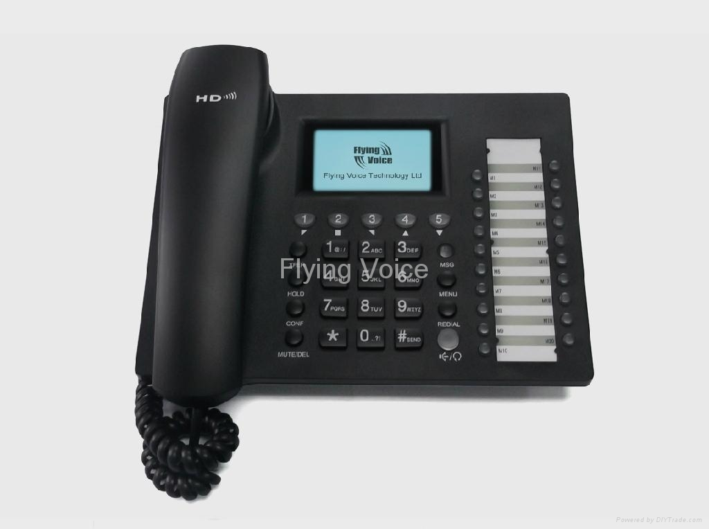 Advanced Business IP Phone with 5 lines and PoE 2