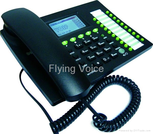Advanced Business IP Phone with 5 lines and PoE 3