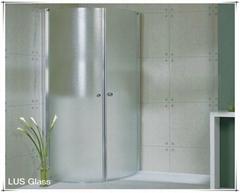 flat shower room glass