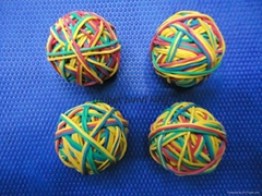 color rubber band ball