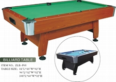High quality billiards table pool table