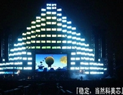 LED stage background display