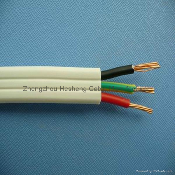 TPS Flexible Flat Twin and Earth Wire - 2.5mm2 - Hesheng Cable ...