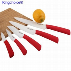 Red color handle zirconia ceramic chef knife