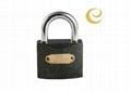 high quality low price grey iron padlock