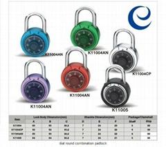 dial round combination padlock