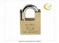 square type wrapped beam brass padlock